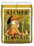 Aloha Hawaii, Hula Girl Dance Duvet Cover