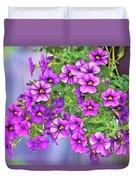 Aloha Purple Sky Calibrachoa Abstract I Duvet Cover