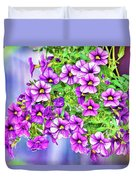 Aloha Purple Sky Calibrachoa Abstract II Duvet Cover