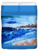 Alone By The Sea Abstract Seascape Duvet Cover