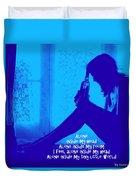 Alone In Blue Duvet Cover