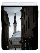 Alone In Tallinn Duvet Cover by Dave Bowman