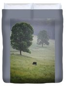 Alone In The Meadow Duvet Cover