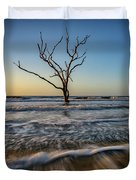 Alone In The Water Duvet Cover