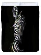 Zebra Fade Into Light Duvet Cover