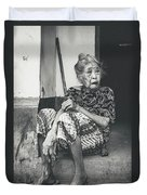 Balinese Old Woman Duvet Cover