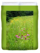 Along A Prairie Path Duvet Cover