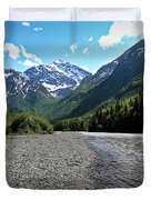 Along Eagle River- Eagle River, Alaska Duvet Cover