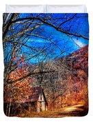 Along The Country Lane Duvet Cover
