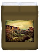 Along The Crooked River Duvet Cover