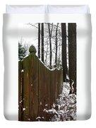 Along The Fence Duvet Cover