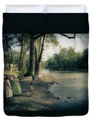 Along The Mississinewa River Duvet Cover