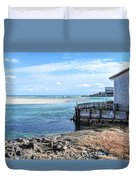 Along The Peaceful Shores  Duvet Cover