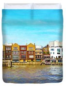 Along The River Thames Duvet Cover