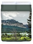 Along The Road To Many Glacier 4 Duvet Cover