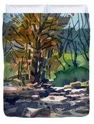 Along The Russian River Duvet Cover