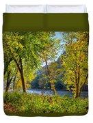 Along The Shenandoah River Duvet Cover