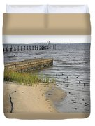 Along The Shore Of Biloxi Bay Duvet Cover