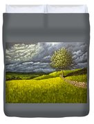 Along The Stone Wall Duvet Cover