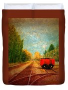 Along The Tracks Duvet Cover