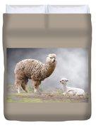 Alpacas Mum And Baby Duvet Cover