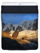 Alpenglow On The Swiss Alps Near Murren Duvet Cover