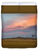 Alpenglow Over South Park, Colorado Duvet Cover