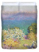 Alpes Maritimes From Antibes Duvet Cover