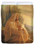 Alpha And Omega Duvet Cover by Greg Olsen