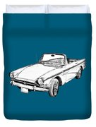 Alpine 5 Sports Car Illustration Duvet Cover