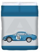 Alpine A110 Duvet Cover by TortureLord Art