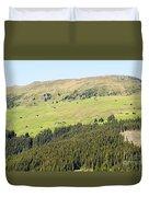 Alpine Forest Landscape.  Duvet Cover