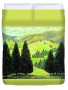 Alpine Hills Duvet Cover