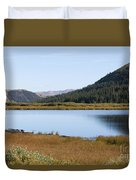Alpine Lake In The Arapahoe National Forest Duvet Cover