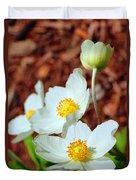 Alpine Pasqueflower Duvet Cover