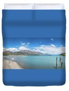 Alpine Scenery Panorama At Kinloch, New Zealand Duvet Cover