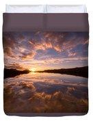Alpine Sunset Duvet Cover