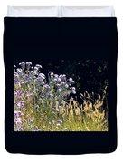 Alpine Thistles And Grasses Duvet Cover