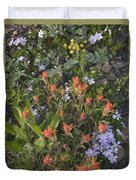 Alpine Wildflowers Hurricane Ridge 4031 Duvet Cover