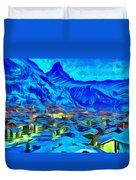 Alps Of Switzerland - Pa Duvet Cover