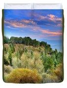 Alpujarras Forest At Sunset Duvet Cover