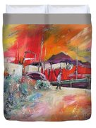 Altea Harbour Spain Duvet Cover
