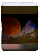 Alternate Universe Glacier Park Duvet Cover
