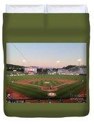 Altoona Curve Baseball Sunset Duvet Cover