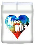 Always Kiss Me Goodnight 6 - Valentine's Day Duvet Cover
