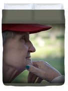 Alzheimer's The Aging Of A Lady Duvet Cover