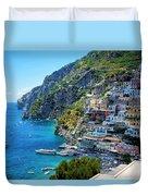 Amalfi Coast, Positano, Italy Duvet Cover