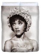 Amanda Barrie, Carry On Actress Duvet Cover