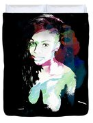 Amani African American Nude Fine Art Painting Print 4966.03 Duvet Cover