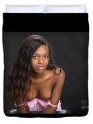 Amani African American Nude Sensual Sexy Fine Art Print 4961.02 Duvet Cover